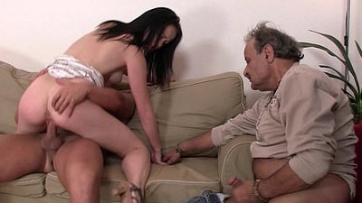husband   old and young   riding cock   wife
