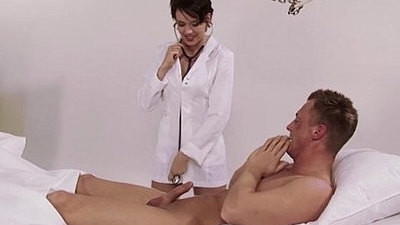 big tits   brunette   german   heels   natural   nurse   uniform