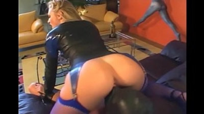 blonde   face sitting   leather   lingerie   pretty