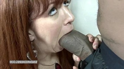 black   hottie   huge cock   redhead