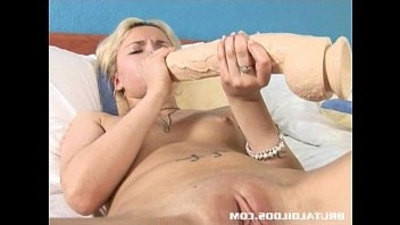 blonde   brutal   dildo   russian   tight pussy
