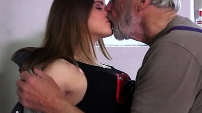 grandpa   hairy pussy   horny girls   innocent   old and young   petite   pussy   young