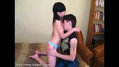 brunette   drilled   teen
