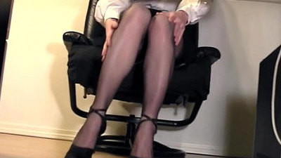fingering   nylon   office   secretary