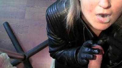 blowjob   leather