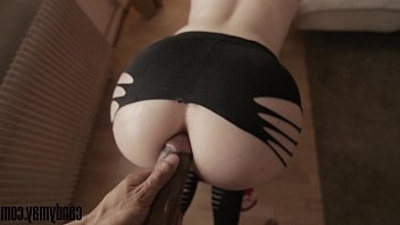 anal fucking  doggystyle  interracial